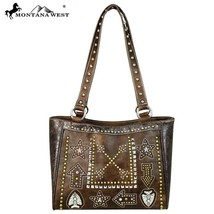 Montana West Western Studs Floral Tooling, Cut-out Arrow Collection Tote Handbag - $61.99