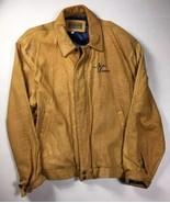 VTG Old Rare Men's Utopia XL Leather Jacket  University Notre Dame Colle... - $171.45