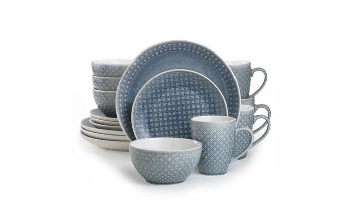 Palma 16 Piece Dinnerware Set in Gray by Euro Ceramica image 2