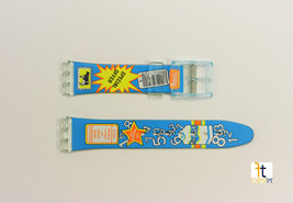 17mm Unisex Blue Milk Carton Design Compatible with Swatch Watch Band Straps - $9.95