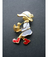 Little Girl with Chick Brooch/Pin - Movable Legs - Gold Tone - $8.99