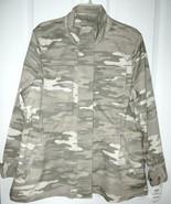 Style & Co Twill Camo Utility Jacket 1X Womens Plus Army New - $47.53