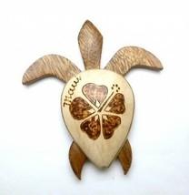 "Neuf Hawaiian Souvenir AIMANT de Réfrigérateur ~ 3 "" Moyen Bois Tortue #... - $9.91"