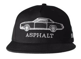 Asphalt Yacht Club AYC All Black 5 Panel Snapback Classic Car Baseball Hat NWT
