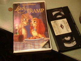 Disney Lady And The Tramp Black Diamond VHS Video Tape 582 Rare Red - $23.32