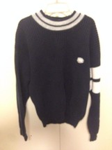 Vintage Nautica Sweater Sz Mens large made in Hong Kong patch Competition - $44.55