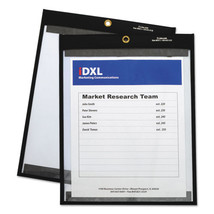 """Magnetic Stitched Shop Ticket Holders, Clear, 75"""", 9 x 12, 25/Box - £64.43 GBP"""