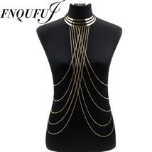 Metal Choker Necklace Women Necklaces&pendants Big Long Chokers Punk Sex... - $11.14