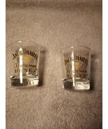 (2)  JACK DANIEL'S SHOT GLASSES--TENNESSEE HONEY--1 OZ-----FREE SHIP--VGC - $18.18