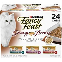 Purina Fancy Feast Gravy Wet Cat Food Variety Pack Gravy Lovers Poultry ... - $20.14