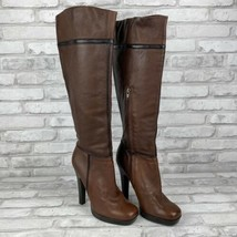 Jessica Simpson Yindly Knee High Boots Heels Women's Size 7B Brown Black... - $38.69