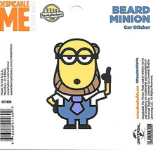 Despicable Me Beard Minion Figure Peel Off Car Sticker Decal NEW UNUSED - $2.95