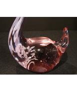 Murano Art Glass Lavender/ White Swan 6 Inches Tall - $20.00