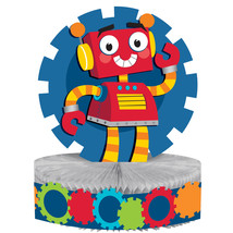 "Party Robots 12"" x 9"" Shaped Honeycomb Centerpiece, Case of 6 - €32,31 EUR"
