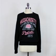 Women's Penfield Women's Crewneck Sweatshirt Graphic Black Pink Sz M - $34.99