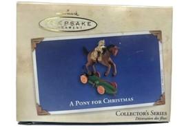HALLMARK 2002 A Pony for Christmas Christmas Ornament HORSES QX8046 - $12.16