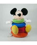 Disney Baby Stacking Ring Plush Toy Mickey Mouse Multicolor Rings Develo... - $17.72