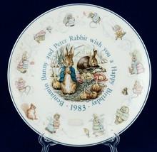 Wedgwood 1983 Peter Rabbit Happy Birthday Plate Beatrix Potter Benjamin ... - $15.00