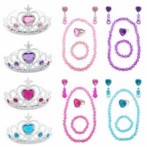 Elesa Miracle Girl Kids Dress Up Tiaras Necklace Bracelet Clip on Earrin... - $20.99