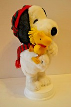 "Peanuts Snoopy & Woodstock Christmas Plush Figure 17"" *Does Not Work* - $13.79"