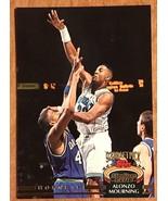 1992-93  Topps Stadium Club  #297 Alonzo Mourning  RC BasketBall Card - $1.24
