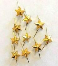 Lot of 10 Russian Army Lieutenant Epaulet metal Rank Star pin. Gold 13 mm - $5.84