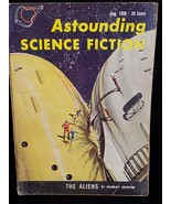 ASTOUNDING SCIENCE FICTION VINTAGE PULP MAGAZINE 1959 AUGUST MURRAY LEIN... - $9.89