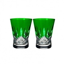 Lismore Pops Emerald Double Old Fashioned DOF Pair #40019538 Brand New - $155.68