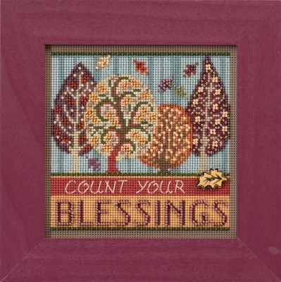 Primary image for Blessings 2017 Autumn Series Buttons and Beads cross stitch kit  Mill Hil