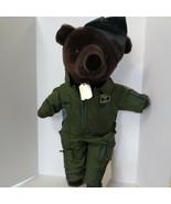 "Patriot Teddy Bear US Air Force Military Plush 1986 Vintage 18"" JJ Wind - $19.70"