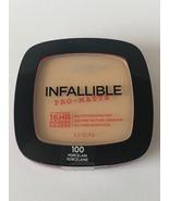 L'oreal Infallible Pro-Matte - Oil Free 16 HR Powder Porcelain 100   - $6.49