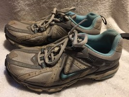 Used/Worn Nike Trail Running shoes womens size 7.5 Grey blue - $26.72