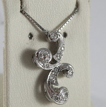 SOLID 18K WHITE GOLD NECKLACE, ETHNIC STYLE WITH DIAMONDS, DIAMOND MADE IN ITALY image 2