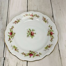 Johann Haviland Bavaria Germany  Bread and Butter Plate Rose Moss 6 1/4 Pink Ros - $9.89