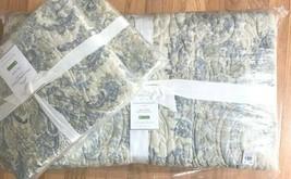 Pottery Barn Irina Quilt Set Blue Queen 2 Standard Shams Jacquard Damask - $268.00