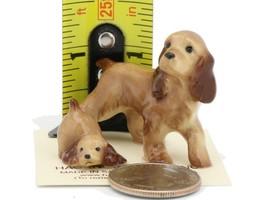 Hagen Renaker Miniature Dog Cocker Spaniel Papa and Pup Ceramic Figurine Set image 2