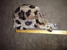 Vintage  Leopard Fur  Ear Flap Trapper Hat small - $64.35