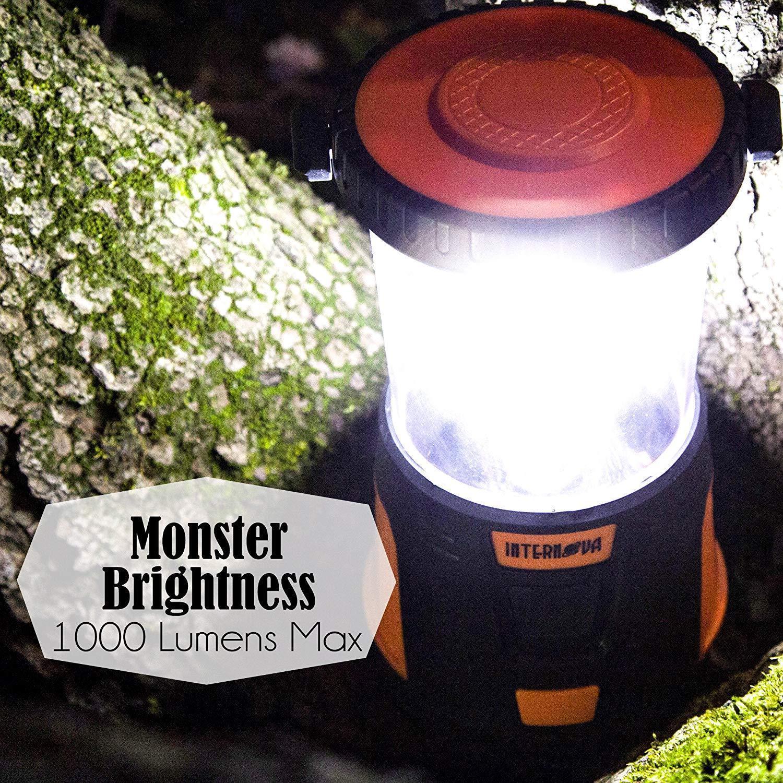Internova 1000 LED Camping Lantern Fully Adjustable 360 Arc Lighting Valentines image 2
