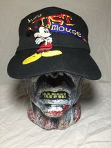 Mickey Mouse Just A Mouse Snapback Goofys Hat Co Walt Disney Black Vintage 1990s - $24.74