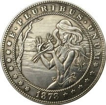 New Hobo Nickel 1878 Sexy Girl Morgan Dollar With Birds Nature Casted Coin - $11.39