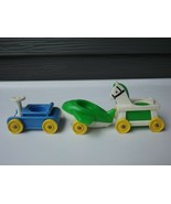 Vintage Fisher Price Little People Plane Rocking Horse Go Cart Lot Of 3 - $12.19