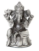 3.63 Inch Ganesha Elephant Indian Hindu Resin Statue Figurine - $21.38