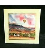 JESSEL MILLER~Ceramic Tile  Art~STONE HOUSE-BALLOON  Napa Valley Artist-... - $23.02