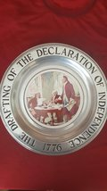 Declaration of Independence Canton Pewter The Great American Revolution 1776 Vin - $44.55