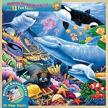 MasterPieces Real Wood Tray Jigsaw Puzzle Undersea Friends, Mom's & Preferred Ch - $9.99