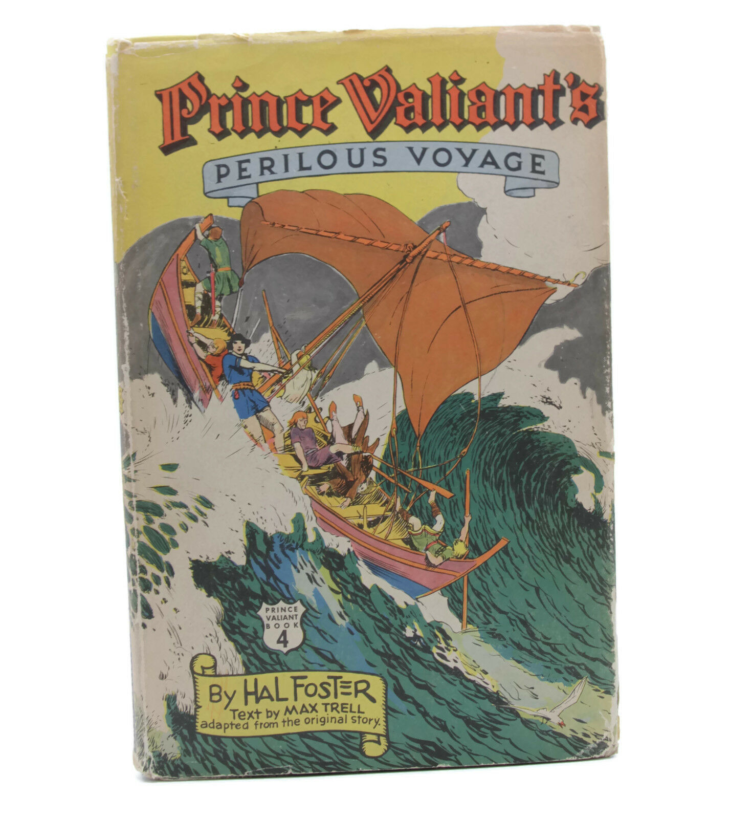 Vintage 1950s Hal Foster Prince Valiant Perilous Voyage Hardcover Book DJ