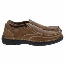 Izod Men's Charlie Memory Foam Insole Slip On Shoes Color: Dark Tan NEW IN BOX image 2
