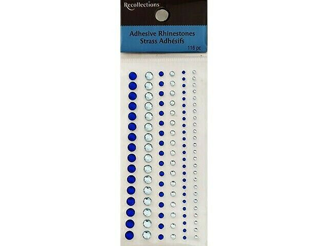 Recollections Rhinestone Stickers, Blue #456008