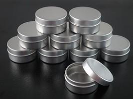Groupcow 20pcs 10ml Empty Cosmetic Pots Lip Balm Container Jar Silver Al... - $11.97