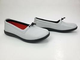 "SAS ""Funk"" Leather Loafer Snow 9 Medium Comfort Flat Shoes Tripad $135 - $94.05"